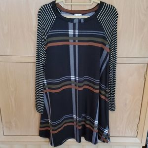 Eg California black long sleeve dress Size XL